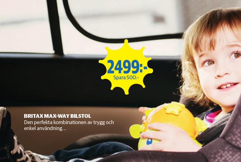 Sommarpris på Britax MAX-WAY bilstol